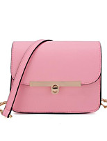 cheap -Women's Bags PU Shoulder Bag Buttons Black / Blushing Pink / Beige