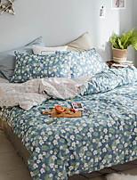 cheap -Duvet Cover Sets Floral Poly / Cotton Reactive Print 3 Piece