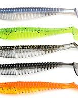 abordables -10pcs pcs Leurre souple Leurre souple Plastique Pêche aux spinnerbaits / Pêche aux jigs / Pêche d'eau douce