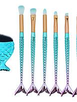 Недорогие -7 шт Кисти для макияжа профессиональный Наборы кистей Нейлоновое волокно Экологичные / Мягкость Пластик
