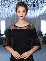cheap -Short Sleeve Lace Wedding / Party / Evening Women's Wrap With Ruffle Capelets