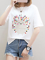 cheap -women's t-shirt - geometric round neck