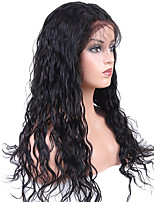 cheap -Remy Human Hair Wig Brazilian Hair Wavy 130% Density With Baby Hair / Soft / With Bleached Knots Natural Short / Long / Mid Length Women's