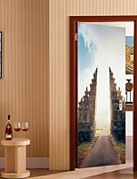 abordables -Autocollants muraux décoratifs / Autocollants de porte - Autocollants muraux animaux / Location Stickers muraux Forme / 3D Salle de