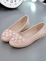 cheap -Women's Shoes PU(Polyurethane) Summer Comfort Flats Flat Heel Black / Blue / Pink