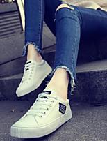 Недорогие -Жен. Обувь Полотно Весна Удобная обувь Кеды На плоской подошве Черный / Серый / Розовый