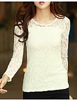 abordables -Tee-shirt Femme, Couleur Pleine - Coton