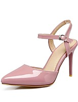 cheap -Women's Shoes Patent Leather / Leatherette Summer Basic Pump Heels Stiletto Heel Pointed Toe Buckle Black / Beige / Pink