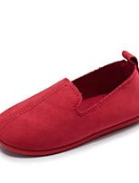 preiswerte -Mädchen Schuhe PU Frühling Komfort Flache Schuhe für Draussen Gelb / Rot / Grün