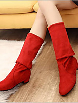 cheap -Women's Shoes Cashmere Winter Comfort Boots Chunky Heel for Black Brown Red Blue