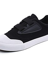 cheap -Men's Shoes Canvas Summer Vulcanized Shoes / Driving Shoes Sneakers White / Black / Black / White