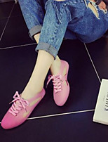 Недорогие -Жен. Обувь ПВХ Лето Удобная обувь Кеды На плоской подошве Закрытый мыс Оранжевый / Зеленый / Розовый