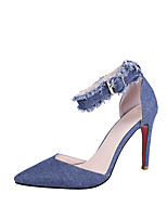 cheap -Women's Shoes Denim Spring & Summer Basic Pump Heels Stiletto Heel Pointed Toe Dark Blue / Light Green / Wedding / Party & Evening