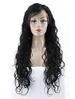 cheap -Virgin Human Hair Wig Brazilian Hair Wavy 130% Density With Baby Hair Natural Long Women's Human Hair Lace Wig