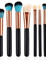 preiswerte -8St Makeup Bürsten Professional Bürsten-Satz- Nylonfaser Umweltfreundlich / Weich Holz / Bambus