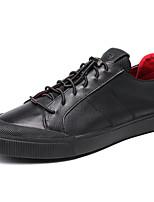 cheap -Men's Shoes Cowhide Fall Comfort Sneakers Black