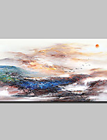 cheap -Oil Painting Hand Painted - Abstract Landscape Classic Modern Canvas