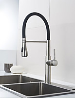 cheap -Kitchen faucet - Contemporary Nickel Brushed Pull-out / ­Pull-down Vessel