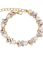 cheap -Women's Chain Bracelet / Bracelet - Imitation Pearl, Gold Plated Bracelet Gold For Party / Daily