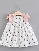cheap -Toddler Girls' Pineapple Color Block Sleeveless Dress