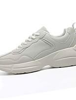 cheap -Men's Shoes PU Fall Comfort Sneakers Beige / Gray
