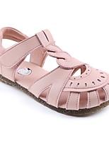 Недорогие -Девочки Обувь Искусственное волокно Лето Детская праздничная обувь Сандалии На липучках для Дети Белый / Розовый