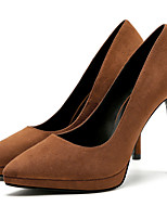 cheap -Women's Shoes Fabric Fall Basic Pump Heels Stiletto Heel Pointed Toe Brown / Red / Almond / Party & Evening / Party & Evening