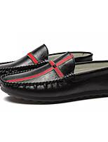 Недорогие -Муж. обувь Искусственное волокно Осень Мокасины Мокасины и Свитер Белый / Черный / Хаки