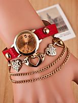 baratos -L.WEST Mulheres Bracele Relógio Chinês Relógio Casual Lega Banda Heart Shape / Casual Preta / Branco / Vermelho