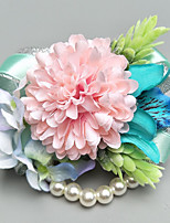 cheap -Wedding Flowers Boutonnieres / Wrist Corsages Wedding / Party Evening Polyester 3.94 inch