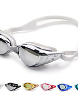 Недорогие -плавательные очки Противо-туманное покрытие / Регулируемый размер / Водонепроницаемость силикагель Поликарбонат белый / черный /