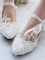 cheap -Women's Shoes PU Summer Comfort Wedding Shoes Flat Heel for Casual White
