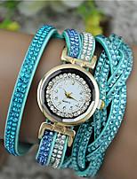 economico -Per donna Orologio braccialetto Cinese Orologio casual PU Banda Brillanti / Di tendenza Nero / Bianco / Blu
