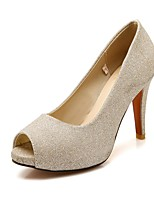 cheap -Women's Shoes Leatherette Spring & Summer Basic Pump Heels Stiletto Heel Peep Toe Gold / Silver / Light Purple / Party & Evening