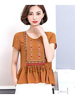 abordables -Tee-shirt Femme, Points Polka - Coton Col en V