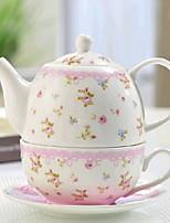 Недорогие -2шт фарфоровый чайник установлен термостойкий, 17 * 10 * 11,5; 14 * 14 * 8 см