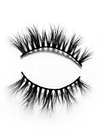 abordables -Œil 1 Naturel / Bouclé Maquillage Quotidien Cils Entiers / Epais Maquillage Portable / Universel Niveau professionnel / Portable
