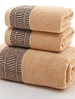 abordables -Qualité supérieure Serviette de bain, Géométrique Polyester / Coton / 100% Coton 1 pcs