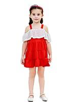 abordables -Enfants / Bébé Fille Couleur Pleine Manches Courtes Robe