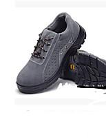 Недорогие -Муж. обувь Замша Зима Удобная обувь Туфли на шнуровке Для пешеходного туризма Серый