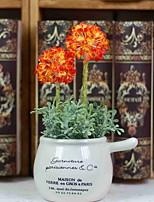 abordables -Fleurs artificielles 1 Une succursale Rustique Hortensias Fleur de Table