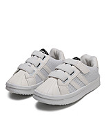 cheap -Girls' Shoes Tulle / PU Spring & Summer Comfort Sneakers Walking Shoes Buckle for Teenager White / Black / Pink