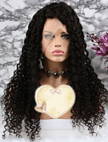 cheap -Remy Human Hair Wig Brazilian Hair Curly Layered Haircut 150% Density With Baby Hair / 100% Virgin Natural Short / Long / Mid Length