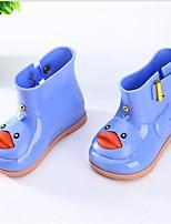 Недорогие -Девочки Обувь Кожа ПВХ  Весна лето Резиновые сапоги Ботинки для Желтый / Синий / Розовый