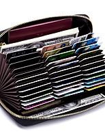 Недорогие -Жен. Мешки Настоящая кожа Бумажники Молнии Темно-синий / Светло-лиловый / Морской синий