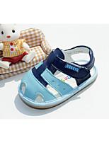 Недорогие -Мальчики Обувь Кожа Лето Удобная обувь Сандалии для Белый / Светло-синий