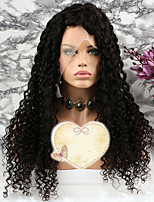 cheap -Remy Human Hair Wig Brazilian Hair Curly Layered Haircut 130% Density With Baby Hair Natural Short / Long / Mid Length Women's Human Hair