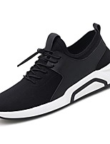 cheap -Men's Shoes Knit / Tulle Summer Comfort / Light Soles Sneakers Black / Red / Black / White