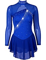 cheap -Figure Skating Dress Girls' Ice Skating Dress Royal Blue strenchy Performance / Practise Skating Wear Quick Dry, Anatomic Design Classic