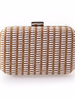 cheap -Women's Bags Straw Evening Bag Buttons for Event / Party White / Coffee